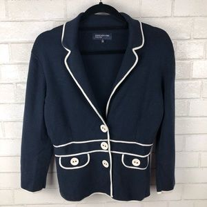 Jones New York Navy Blazer Cardigan